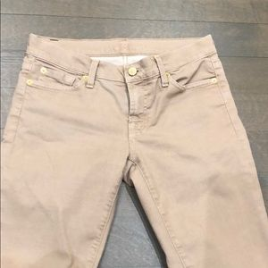 7 For All Mankind Beige Jeans